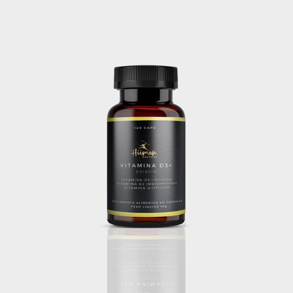 Vitamina D3 + K2 + A - 120 caps. 2000ui