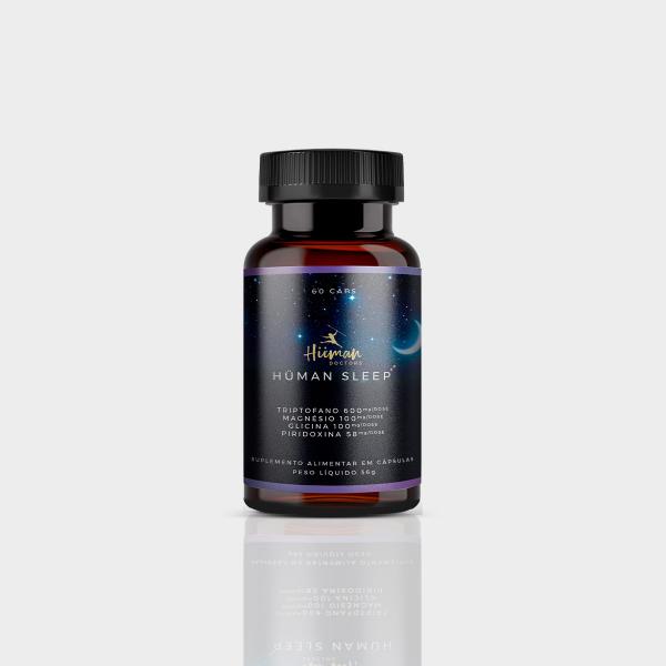 Hüman Sleep 60 caps. - Triptofano, magnésio, glicina