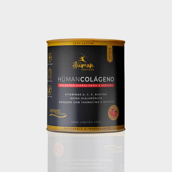 Hüman Colágeno + vitaminas - sabor morango