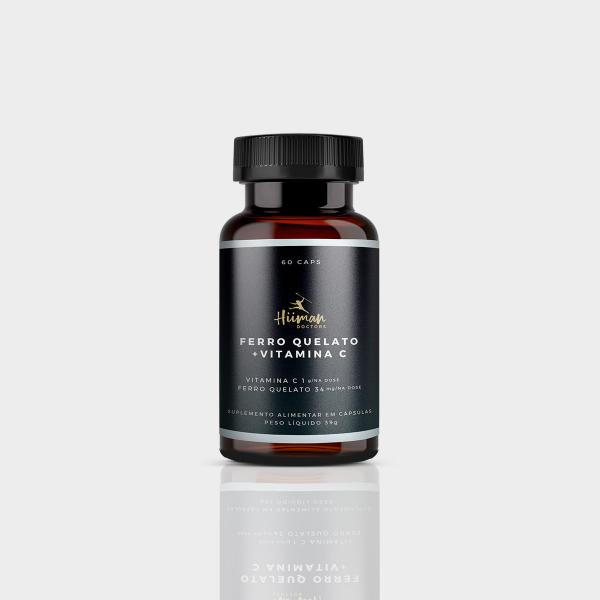 Ferro quelato + Vitamina C 60 caps.